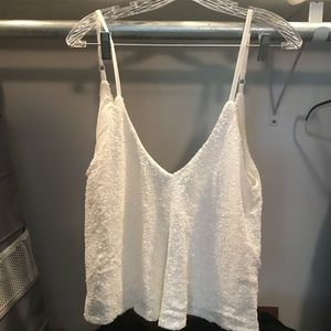 White sequin sparky tanto top Tobi